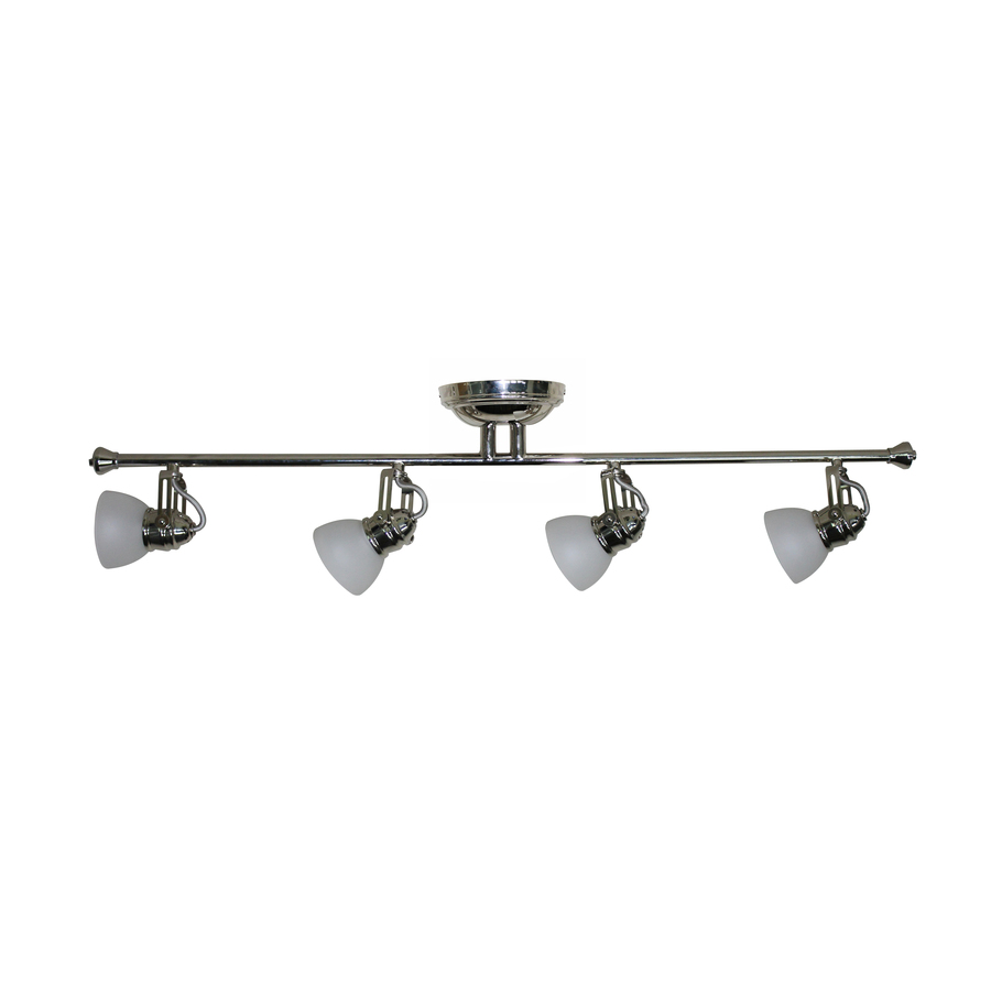 roth 4 light polished nickel fixed track light kit at. Black Bedroom Furniture Sets. Home Design Ideas