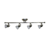 allen + roth 4-Light Brushed Nickel Track Bar Light Kit