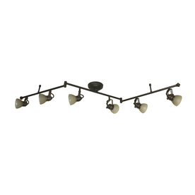 allen + roth Tucana 6-Light Bronze Dimmable Fixed Track Light Kit