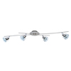 Style Selections 4-Light 45.28-in Brushed Nickel Fixed Track Light Kit