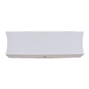 Catalina 7-in x 26-in White Linen Fabric Bathroom Vanity Light Refresh Kit with Decorative Nickel Finial