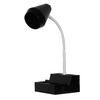 Style Selections 18.75-in Adjustable Black Desk Lamp with Plastic Shade