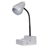 Style Selections 18.75-in Adjustable White Desk Lamp with Plastic Shade