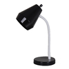 Style Selections 14-in Adjustable Black Desk Lamp with Plastic Shade