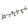allen + roth 6-Light Bronze Integrated Led Decorative Flexible Track Light with Frosted Glass