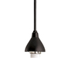 Project Source 1-Light Matte Black Cone Linear Track Lighting Pendants