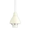 Project Source 1-Light Matte White Cone Linear Track Lighting Pendants