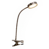Style Selections 13.25-in Adjustable Stainless Steel LED Clip-On Desk Lamp with Metal Shade
