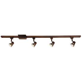 Portfolio 4-Light Bronze Casual Track Lighting