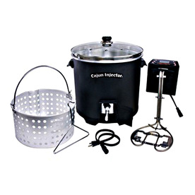 Cajun Injector 30-Quart Electric Turkey Fryer with Timer
