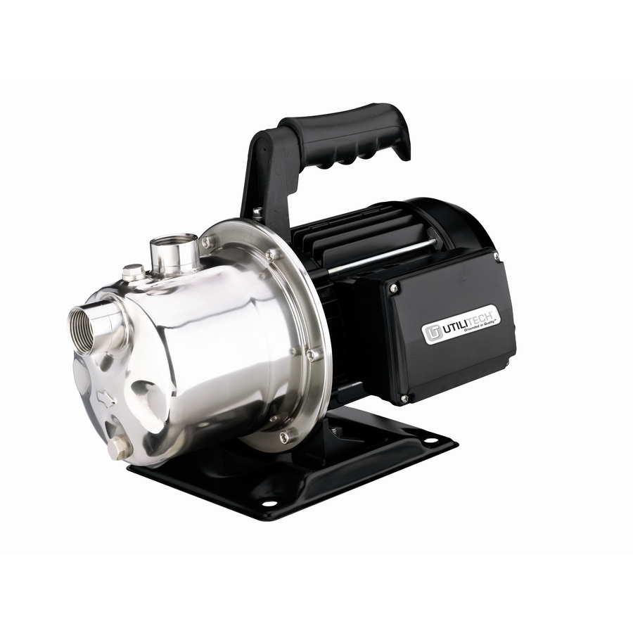 Shop Utilitech 1 Hp Stainless Steel Lawn Pump At