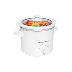 Proctor-Silex 1.5-Quart White Round Slow Cooker