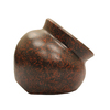 12-in x 10-in Antique Brown Clay Planter