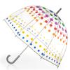 totes 36-in Polka Dot Manual Bubble Umbrella