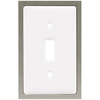betsyfieldsdesign 1-Gang White Standard Toggle Ceramic Wall Plate
