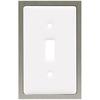 betsyfieldsdesign 1-Gang White Standard Toggle Ceramic Wall Plate