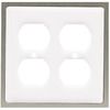 betsyfieldsdesign 2-Gang White Round Wall Plate