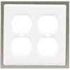 betsyfieldsdesign 2-Gang White Round Wall Plate