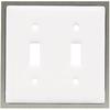 betsyfieldsdesign 2-Gang White Standard Toggle Ceramic Wall Plate