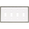 betsyfieldsdesign 4-Gang White Standard Toggle Ceramic Wall Plate