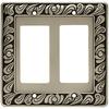 betsyfieldsdesign 2-Gang Brushed Satin Pewter Decorator Rocker Metal Wall Plate