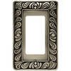 betsyfieldsdesign 1-Gang Brushed Satin Pewter Decorator Metal Wall Plate