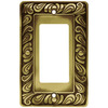 betsyfieldsdesign 1-Gang Tumbled Antique Brass Decorator Rocker Metal Wall Plate