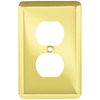 Style Selections 1-Gang Polished Brass Standard Toggle Steel Wall Plate