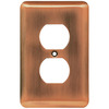 Brainerd 1-Gang Brushed Copper Toggle Wall Plate