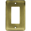 Brainerd 1-Gang Antique Brass Decorator Rocker Steel Wall Plate