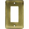 Brainerd 1-Gang Antique Brass Decorator Rocker Steel Wall Plate