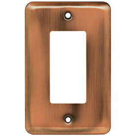Brainerd 1-Gang Brushed Copper Decorator Steel Wall Plate