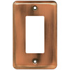 Brainerd 1-Gang Brushed Copper Decorator Rocker Steel Wall Plate