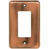 Brainerd 1-Gang Brushed Copper Decorator Rocker Steel Wall Plate