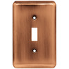 Brainerd 1-Gang Brushed Copper Standard Toggle Steel Wall Plate