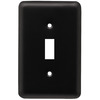 Style Selections 1-Gang Flat Black Standard Toggle Steel Wall Plate
