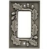 betsyfieldsdesign 1-Gang Brushed Satin Pewter Decorator Rocker Metal Wall Plate