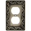 betsyfieldsdesign 1-Gang Brushed Satin Pewter Round Wall Plate