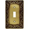 betsyfieldsdesign 1-Gang Tumbled Antique Brass Standard Toggle Metal Wall Plate