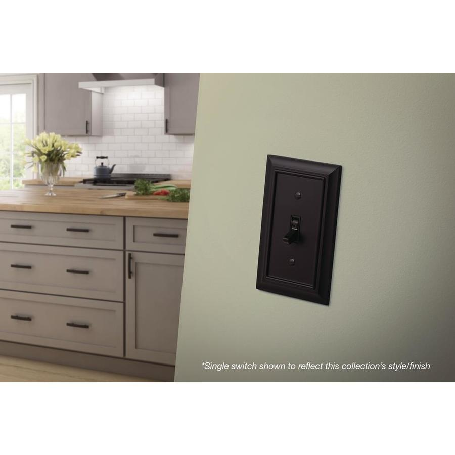 Brainerd 64211 Architectural Double Decorator Wall Plate Flat Black