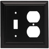 Brainerd 2-Gang Flat Black Standard Duplex Receptacle Metal Wall Plate