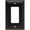 Brainerd 1-Gang Flat Black Decorator Rocker Metal Wall Plate