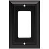 Brainerd 1-Gang Flat Black Decorator Rocker Metal Wall Plate