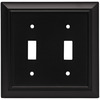 Brainerd 2-Gang Flat Black Standard Toggle Metal Wall Plate