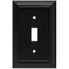 Brainerd 1-Gang Flat Black Standard Toggle Metal Wall Plate