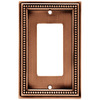 betsyfieldsdesign 1-Gang Aged Brushed Copper Decorator Rocker Metal Wall Plate