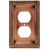 betsyfieldsdesign 1-Gang Aged Brushed Copper Standard Duplex Receptacle Metal Wall Plate