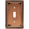 betsyfieldsdesign 1-Gang Aged Brushed Copper Standard Toggle Metal Wall Plate
