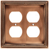 betsyfieldsdesign 2-Gang Aged Brushed Copper Standard Duplex Receptacle Metal Wall Plate
