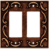 betsyfieldsdesign 2-Gang Sponged Copper Decorator Rocker Metal Wall Plate